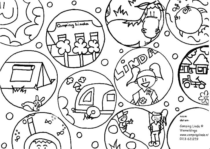 Kleurplaten Gelukkig Nieuwjaar 2019.Kleurplaten Camping Kleurplaat